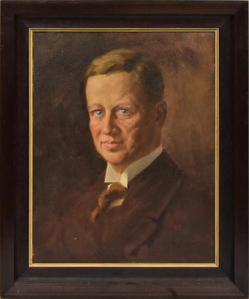 """OTTO BUNGNER (1890-1965). """"Homem Nobre"""", óleo s/ tela, 50 X 40. Assinado e localizado (Rio) no c.i.d."""