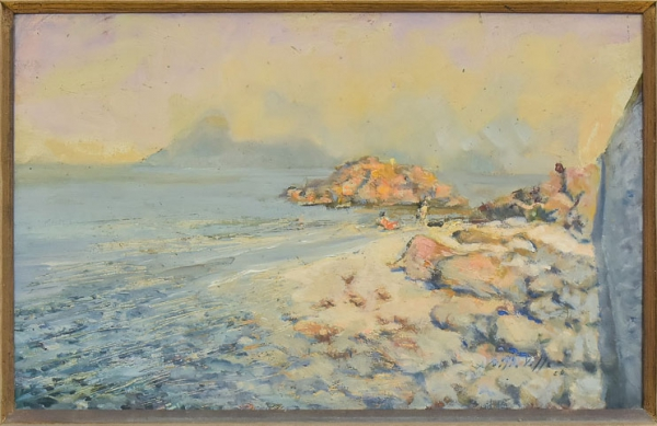 "ALUIZIO DO VALLE (1906-1988). ""Volta da Itapuca - Niterói"", óleo s/eucatex, 27 x 41. Assinad"