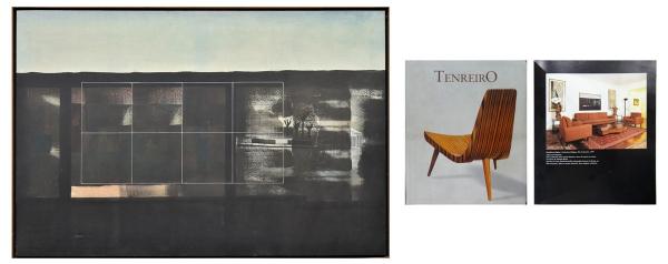 """LUIS PAULO BARAVELLI (1942). """"Sem Título"""", óleo s/ tela, 150 X 100. Assinado e datado (1975) no verso. Este quadro participou da """"Exposição do MAM"""" em 1975. Este quadro encontra-se reproduzido na pág. 109 do livro """"Tenreiro"""" por Soraia Cals. Reproduzido com foto no catálogo."""