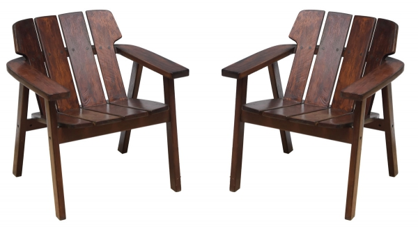 """SERGIO RODRIGUES (1927-2014). Par de poltronas leve dita """"Taja"""" (circa 1980) em madeira nobr"""
