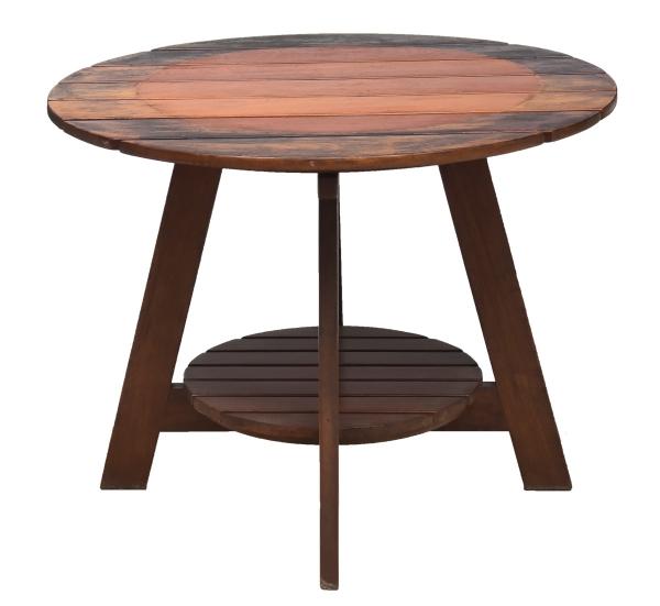 "SERGIO RODRIGUES (1927-2014). Mesa redonda dita ""Taja"" (circa 1980) em madeira nobre. Tampo"