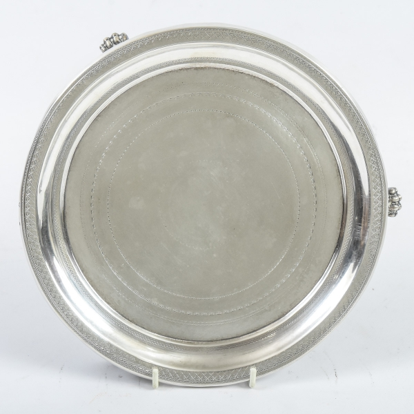 """Salvinha em prata brasileira contraste """"10 Dinheiros"""", estilo """"Império"""", séc. XIX. F"""