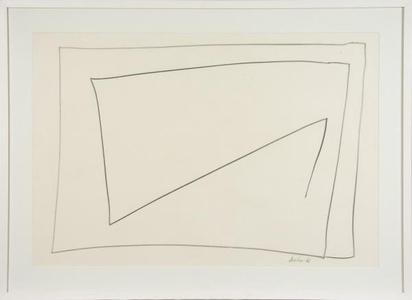 """AMILCAR DE CASTRO (1920-2002). """"Sem Título"""", serigrafia, 64 X 94. Assinado e datado (1966) n"""