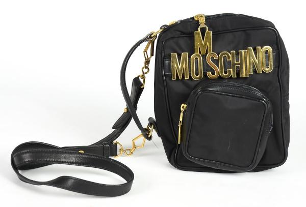 """MOSCHINO - ITALY. Bolsa italiana de alça com reversibilidade para bolsa de mão da marca """"Moschin"""