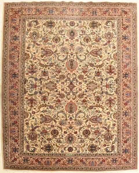 Tapete Tabriz, medindo: 3,45 X 2,50 = 8,62m².