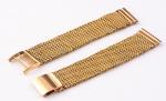 Pulseira para relógio dos anos 50 em ouro 18k contrastado. Comp.: 15cm. Peso: 30,8g.
