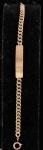Pulseira com placa de identificação em ouro 18k (década de 50). Peso: 15,4g.