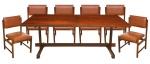 SERGIO RODRIGUES (1927-2014). a) Seis cadeiras em jacarandá ditas