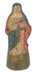 NOSSA SENHORA DO TEMPLO. Rara imagem miniatura em terracota policromada. Alt.: 10 cm. São Paulo - sé