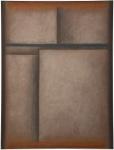 """IANELLI, ARCÂNGELO (1922-2009). """"Sem Título"""", óleo s/ tela, 1,30  X 1,00. Assinado e datado (1987) no c.i.d. Apresenta inscrições no verso. Reproduzido com foto no catálogo."""